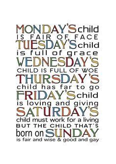 Elijah - Tuesday, Isaiah - Wednesday, Ethan - Monday & Gabriel - Saturday <3