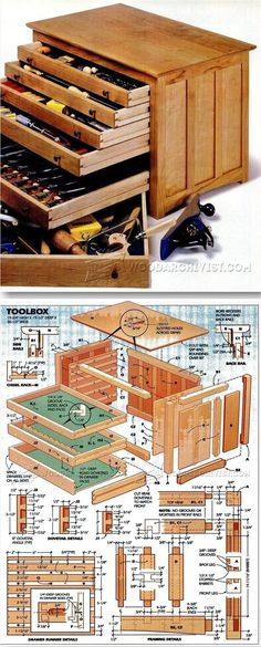 Toolbox Plans - Workshop Solutions Projects, Tips and Tricks   WoodArchivist.com #woodworkingprojects #woodworkplans #woodworkingtips