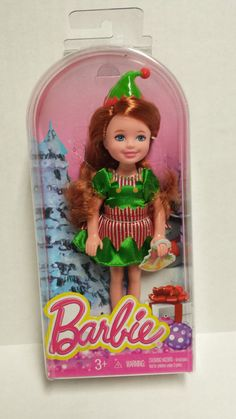 2013 Mattel Barbie Christmas Elf Chelsea Holiday Friend Doll for sale online Barbie Kids, Barbie Doll Set, Barbie Family, Girl Dolls, Baby Dolls, Mattel Dolls, Christmas Barbie, Christmas Toys, Christmas Holiday