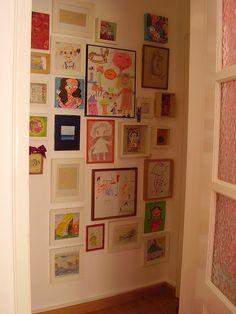 kids' art wall - in hallway?