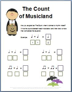 Fun Halloween music theory worksheets. Click here for more than 20 free printable worksheets & fun Halloween games to make your lessons the best in town.