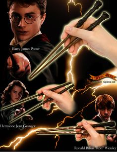 What the---SHUT UP. Harry potter character wand CHOPSTICKS.