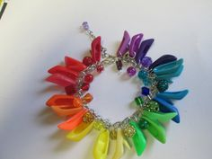 80's  Barbie Pumps  Bracelet  Extra full with beads / ITEM 3496