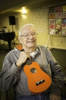 George Fortenberry of the Bell Trace Ukulele Club. Photo by Tyagan Miller