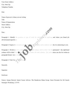 Sample Job Application Cover Letter - http://www.resumecareer.info ...