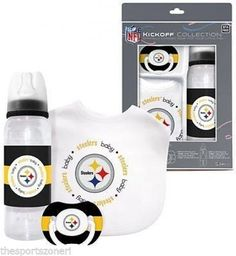 Pittsburgh Steelers Infant Baby Gift Set #PittsburghSteelers Visit our website for more: www.thesportszoneri.com