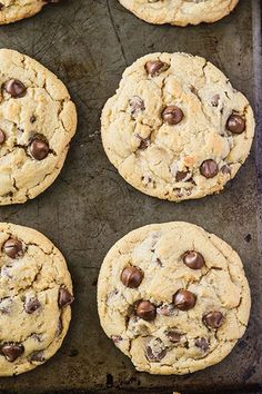 This is the BEST chocolate chip cookie recipe in the world! Made with real butter & vanilla, they're huge, soft & chewy & the dough is perfectly freezeable!
