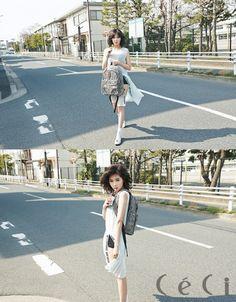 HyunA looks refreshing in Tokyo for 'CeCi' magazin