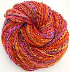 Handspun and Hand Dyed Merino Wool Silk Bulky Yarn
