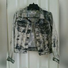 Black Denim Jean Jacket Black acid wash jean jacket. The design includes distressed details BONGO Jackets & Coats Jean Jackets