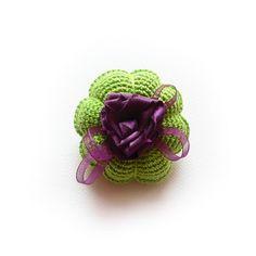 Melisa z różą - broszka w SolmilarArt na DaWanda.com Heart Ring, Rings, Floral, Flowers, Etsy, Jewelry, Bijoux, Jewlery, Jewerly