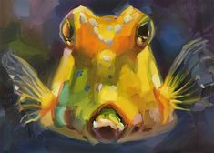 "Daily Paintworks - ""Cowfish Study"" - Original Fine Art for Sale - © Holly Storlie Fish Art, Fine Art Gallery, Wood Paneling, Art For Sale, Study, Artist, Painting, Wooden Panelling, Studio"