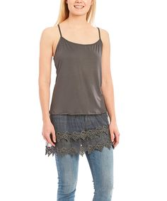 polka-dotsy Lace Top Extender Camisole X-Large Black