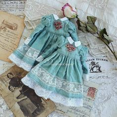17 New Ideas Baby Accessories Girl Children Doll Clothes Patterns, Clothing Patterns, Fashion Kids, Fashion Dolls, Little Girl Dresses, Girls Dresses, Mori Fashion, Sewing Dolls, Fabric Dolls
