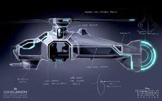 Fashion and Action: TRON Uprising Light Chopper Concept Art by Daniel Simon
