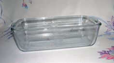 Vintage Fire King Sapphire Blue Philbe Pattern Glass Loaf Pan
