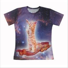 3D T-Shirt Cute Animal Cat Dolphin Sloth Print Men Women Casual Short Sleeve Tee