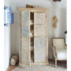 Solid mango wood wardrobe ... - Annapurna