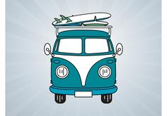 Vw Bus Free Vector Art - (324 Free Downloads)