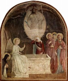 Women at the Empty Tomb - Fra Angelico, c. 1446