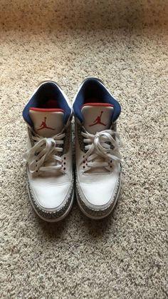 8b83a46bacc4ee Rare Nike Air Jordan Retro 3 True Blue III White OG 2016  fashion  clothing