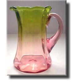 Amberina Glass Pitcher - English - Late 19th Century