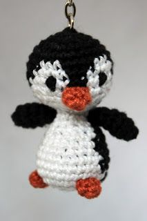 MadeByLeonie: Pinguin - Sleutelhanger