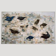 Bird Wall - Rut Bryk, ceramic wall piece Ceramic Artists, Finland, Scandinavian, Print Patterns, Tiles, Moose Art, Pottery, Ceramics, Finnish Women