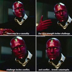 You know, it's really sad just how true this line was. Because the Avengers were strong, the UN challenged them, leading to conflict among them. And the result was indeed catastrophe.