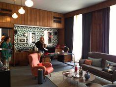 """Antiguo despacho del embajador británico en Madrid, ... atmósfera """"Mad Men"""" total #casadecor"""