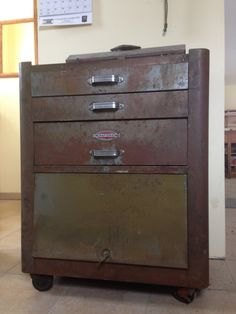 My good friend got this at an auction this summer and just gave it to me for Christmas. It's a beautiful old craftsman roll around tool cabinet.