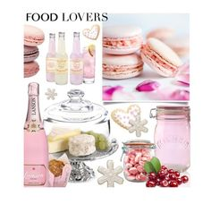 """PINK Food"" by hellodollface ❤ liked on Polyvore featuring interior, interiors, interior design, home, home decor, interior decorating, Arthur Court Designs, Kilner, giftguide and foodlovers"