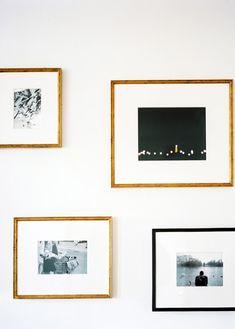 Brooklyn apt, gallery wall, framed Paris photos, Michelle Adams, Lonny Nov12