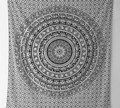 Indian Elephant Mandala Tapestry, Hippie Tapestries, Tapestry Wall Hanging, Indian Black & White Tapestry , Bohemian Dorm Decor Mandala Tapestries, Pyshedlic Tapestry, Hippy Mandala Tapestries Bedspread Wall Decor Queen 86x94 By Bhagyoday Rajasthali http://www.amazon.co.uk/dp/B00WTZ5KCW/ref=cm_sw_r_pi_dp_NHPMwb1VC3X8X