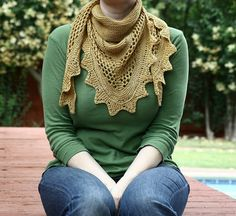 Lovely shawl and so much fun to knit! Aestlight Shawl pattern by Gudrun Johnston in The Shetland Trader