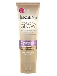Jergens Natural Glow 3 Days to Glow Moisturizer: It's odorless, affordable, and can get you a full shade darker in three days time. $7.99; drugstore.com
