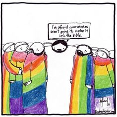 """My cartoon and commentary today """"Jesus Prophesies to the LGBT Community"""": http://www.patheos.com/blogs/nakedpastor/2013/06/jesus-prophesies-to-the-lgbt-community/"""