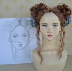 My wooden doll. workflow by Galina Zakharova