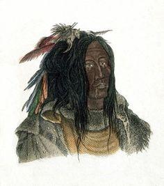 Painting of Blackfeet Indian by Karl Bodmer/Hulton-Deutsch Collection/Corbis