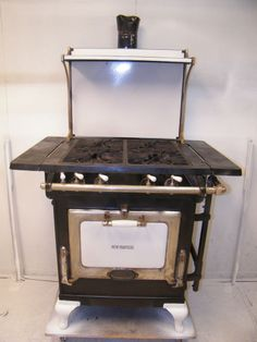 Vtg 1930 S Wedgewood Cast Iron Porcelain Gas Stove W Oven