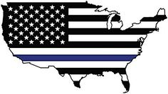 Support Police Law Enforcement - Made for Trucks and Cars - American Flag Thin Blue Line Magnet