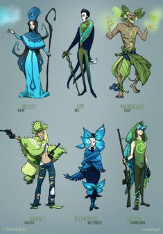 Spring classes - various 2 by ~ming85 on deviantART