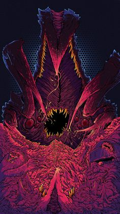 Cosmic Monsters by Brock Hofer, via Behance