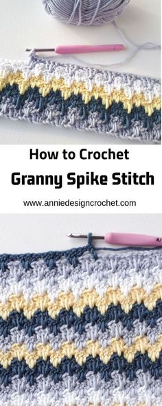 step by step crochet stitch tutorial for granny spike stitch. Easy pattern perfe… step by step crochet stitch tutorial for granny spike stitch. Easy pattern perfe…,Häkelmuster step by step crochet stitch tutorial for granny. Crochet Simple, Crochet Diy, Learn To Crochet, Crochet Crafts, Double Crochet, Crochet Socks, Crochet Ideas, Crochet Afgans, Crochet Designs