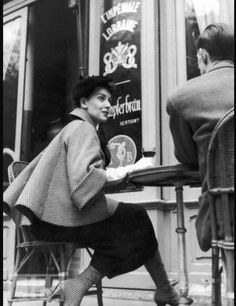 Dior's French cafe attire, 1954