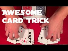 Today you'll learn another cool easy card trick. Teaching is divided into two parts - first video is showing you only performance and second video will show you the secret ; Card Tricks For Beginners, Easy Card Tricks, Magic Tricks For Kids, Learn Magic, Brain Teasers, Coincidences, Cool Cards, Playing Cards, Teaching