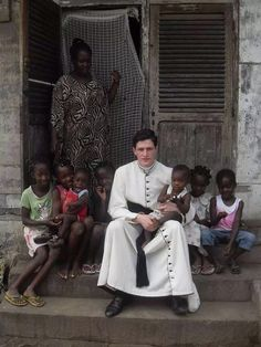 The fatherhood of a priest embraces the whole world. Young, contemporary priest in cassock FTW!
