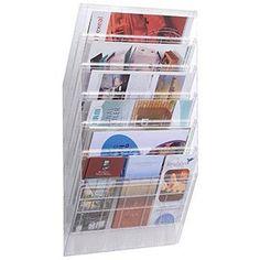 Z01. Durable Flexiboxx Literature Holder Wall Mountable 6 Pockets Landscape A4 Clear Ref 1709785400