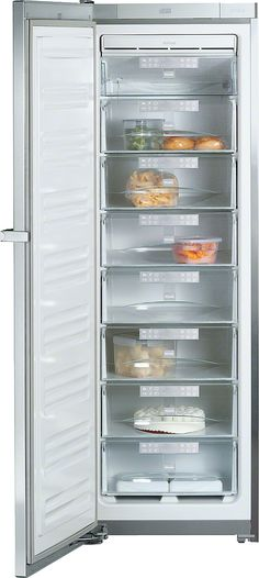 Miele FN 14827 S ed/cs -1 - Freestanding freezer with Frost free and SoftClose for convenient side-by-side installation.--Stainless steel