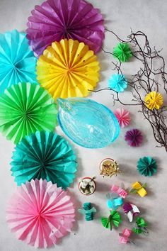 colorfull paper decorations